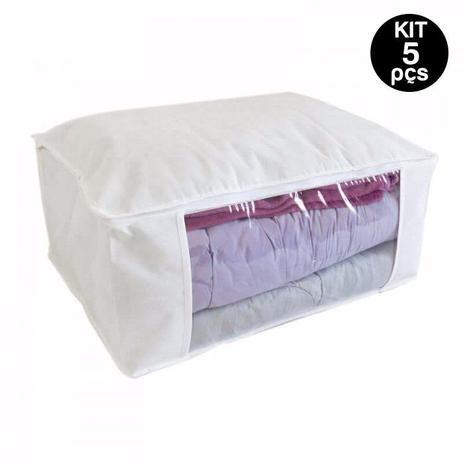 5648727cd Kit 6 Sacos Organizadores Com Zíper Ótimo Para Edredom - G - Supermercado  digital