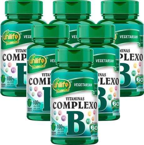 Kit 6 Vitaminas Complexo B 60 Cáps B1,b2,b3,b5,b6,b7,b9,b12