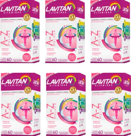 Imagem de Kit 6x Lavitan A-z Mulher - Polivitamínico 60 Comprimidos