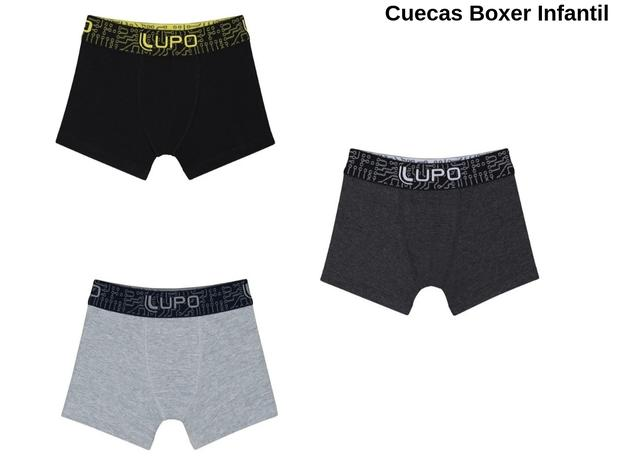 e115fb931 Kit 8 Cuecas Boxer Infantil Lupo Algodão Original Box Cotton - Cueca ...