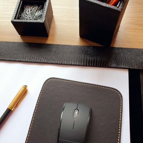 Imagem de Kit a4 premium de mesa risque rabisque escritório - preto