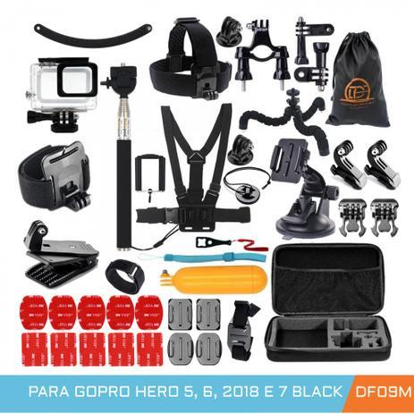 Imagem de kit Acessórios Aventura com caixa estanque para Gopro Hero 5, 6, 7 Black - DF09M