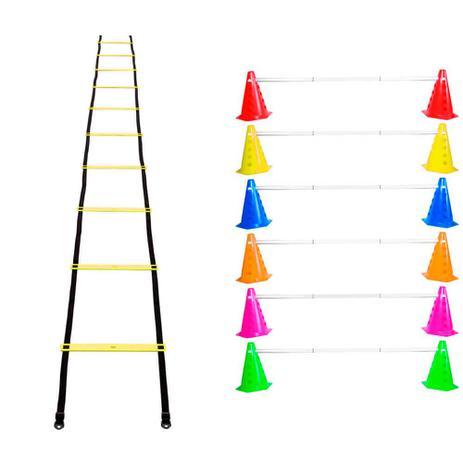 7664625dc8018 Kit Agilidade Funcional 12 Cones Barreira + Escada Plastico - Natural  fitness