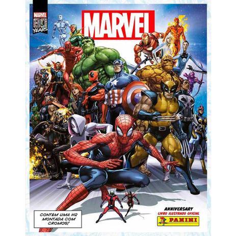Imagem de Kit Álbum de Figurinhas e 6 Envelopes Marvel 80 Anos- Panini