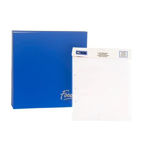 Imagem de Kit Álbum Mega 500 fotos Azul + Refi de folhasl Ical