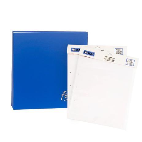 Imagem de Kit Álbum Mega Azul 500 Fotos e Refil 100 Fotos Ical