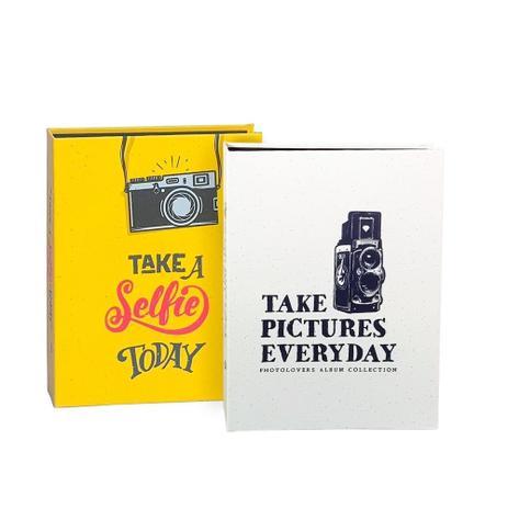 Imagem de Kit Álbuns Folha preta 160 fotos Take Selfie Take