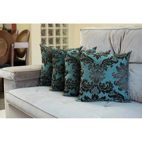 9fe0980ad837ca Kit Almofada Decorativa Jacquard - 04 Peças -Azul - Vb