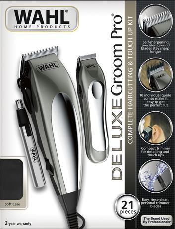 Kit aparador de cabelo e pelos - deluxe groom pro 220v - Wahl a623a8e1a671
