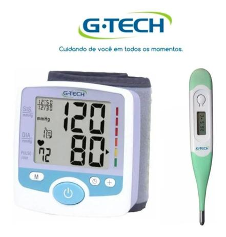 Imagem de Kit Aparelho De Medir Pressão Digital De Pulso GP 200 + Termometro