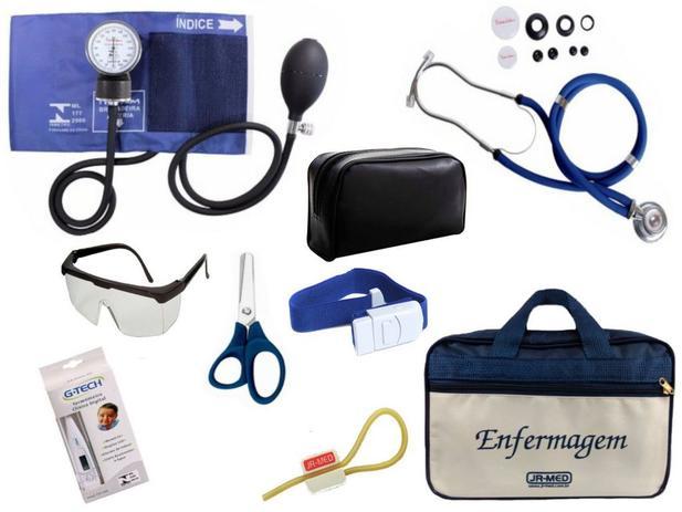7571f2f1c Kit Aparelho De Pressão com Estetoscópio Rappaport Premium Completo - Azul