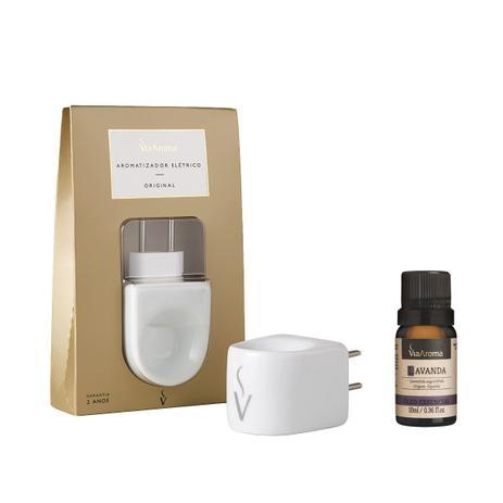 Imagem de Kit aromatizador elétrico de porcelana e oleo essencial de lavanda