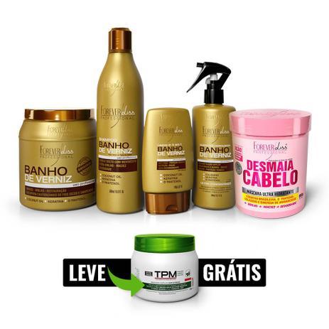a40c535a48864 Kit Banho de Verniz com Desmaia Cabelo Ganhe TPM Forever Liss - Kit ...