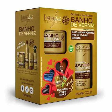 Kit Banho De Verniz Forever Liss Com Shampoo 300ml Economico