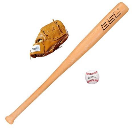 Imagem de Kit baseball bsl taco + luva + bola infantil 208