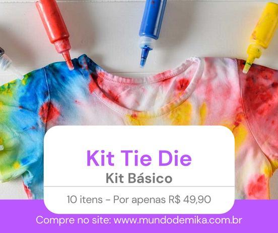 Imagem de Kit Básico - Faça a sua camiseta tie die - Escolha o seu tamanho