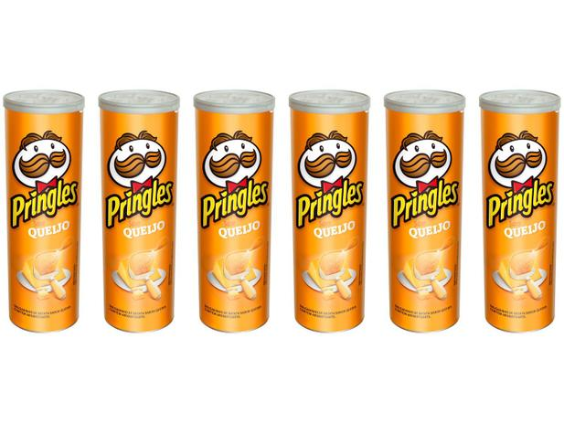 Imagem de Kit Batata Pringles Queijo 6 Unidades