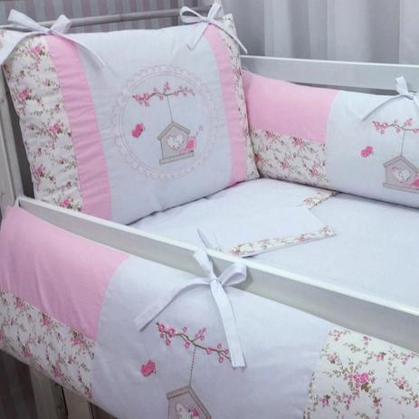 03910c6c9 kit Berço bordado 09 peças baby art florido silk birds baby rosa - Paulinha  baby