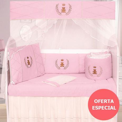 f904990124 Kit Berço Realeza Luxo Rosa - Precious baby - Kits Enxoval para ...