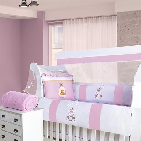 83fd07431a Kit Berço Ursa Encanto Rosa 9 Peças - Precious baby - Kits Enxoval ...