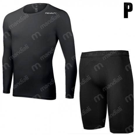 Kit Bermuda Termica + Camiseta Manga Longa Termica Tam P Penalty ... 767e855116396