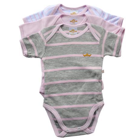 c19b44a261f7 Kit Bodies Suedine Confort Menina Manga Curta - Best Club - Best club baby