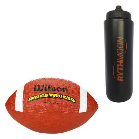 8d5ed90a8a Kit Bola de Futebol Americano Top Notch Wilson + Squeeze Automático 1lt -  Rythmoon