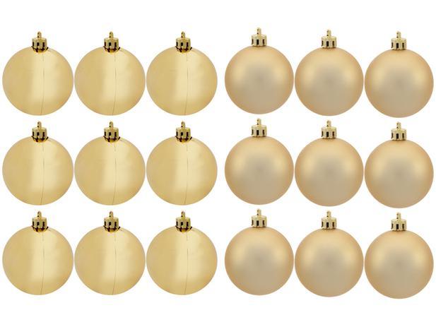 Imagem de Kit Bola de Natal Dourada Lisa NATAL035M