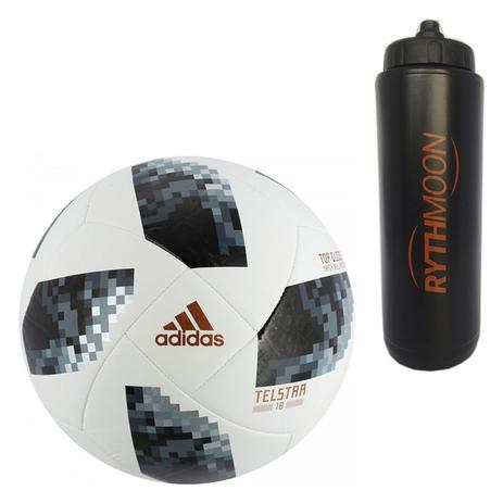 7901d7372d Kit Bola Futebol Campo World Cup Russia 2018 Top Glider Adidas + Squeeze  Automático 1lt - Rythmoon