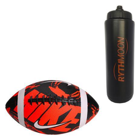 Kit Bola Nike Futebol Americano Spin 3.0 laranja preto branco + Squeeze  Automático 1lt - Rythmoon b9bea7d09dc20