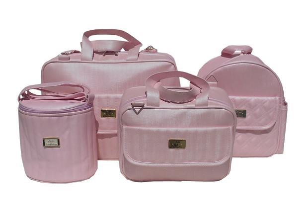 28d1b32410 Kit Bolsa Bebê Maternidade Cores Menina E Menino 4 Peças - Arte e companhia