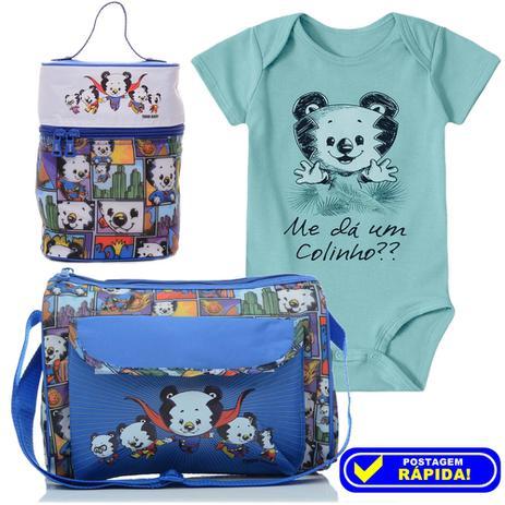 6f5524ff08a5a4 Kit Bolsa Frasqueira + Body Saida Maternidade Bebê - Tigor T. Tigre Azul