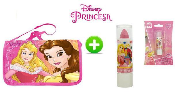 c6996a22a Kit bolsa infantil chic tiracolo + batom princesa aurora - Etihome ...
