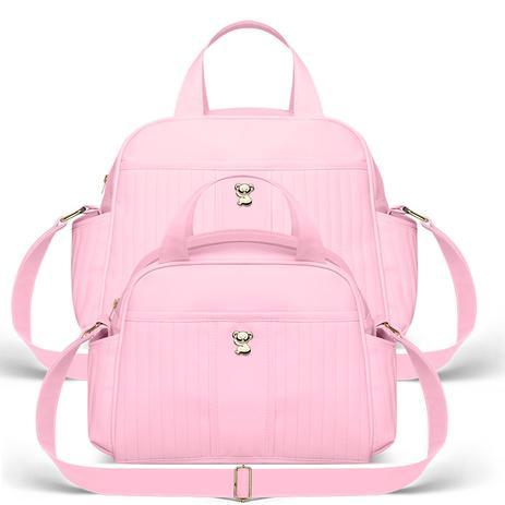 4c5b26d86c Kit Bolsa Maternidade 2 peças Grace Rosa - Classic for Bags - Classic for  baby bags