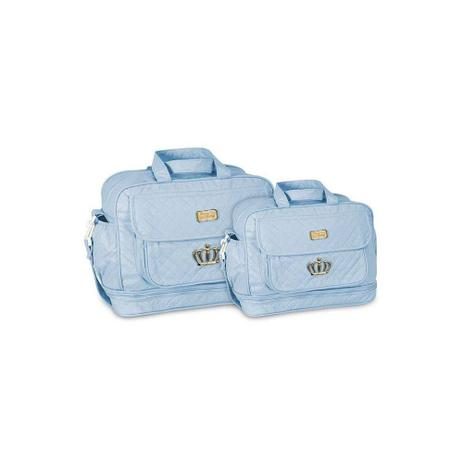 Kit Bolsa Maternidade Bolsa Bebe Menino Azul Bebê Luxo M E G - Mave ... 4dd5af1e015