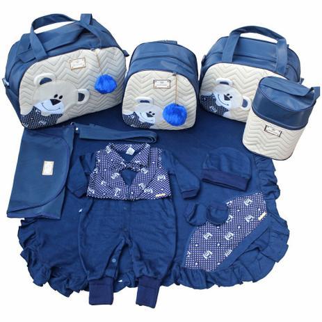 Imagem de Kit Bolsas de Maternidade 5 Peças Saída Azul Marinho