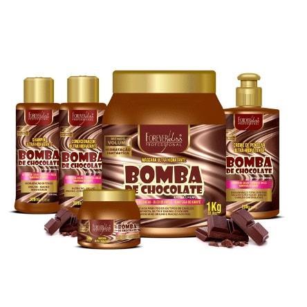 kit bomba de chocolate forever liss masc 1k sh cond e creme de