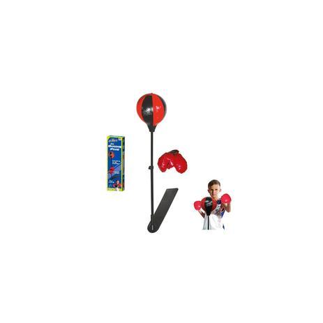 Imagem de Kit boxe com luvas e suporte bola de socar infantil punching ball kit completo e altura ajustável 106cm