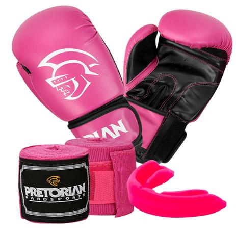 83f802c019 Kit boxe muay thai first pretorian bucal + bandagem + luva 10 oz -  Pretorian fight