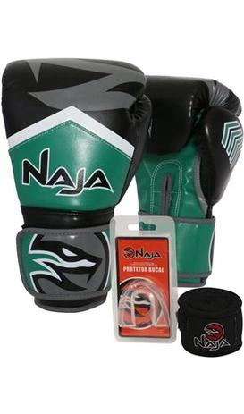 kit boxe muay thai naja new extreme bandagem bucal verde - Kit Boxe ... b8e9bb1e72f90
