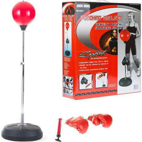 59d87bd55 Kit boxe saco de pancada adulto infantil punching ball kit com luvas e  altura ajustável - Faça resolva