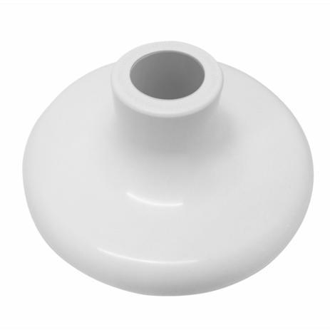 Imagem de Kit C/ 10 Plafon Sobrepor Redondo Branco Porcelana Bocal E27
