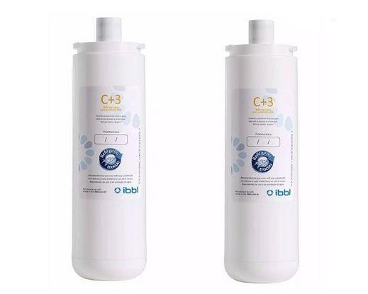 Imagem de Kit c/ 2 refil c+3 filtro purificador de água ibbl fr600