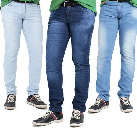 997fd7f3aa kit c 3 Calças Jeans Masculina com Elastano skynni slim Promoção - Mania do  jeans