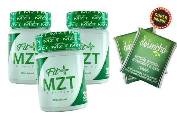 Imagem de KIT C/ 3 FIT+ MZT Slimming 30 Cápsulas + Brinde 2 Desinchá