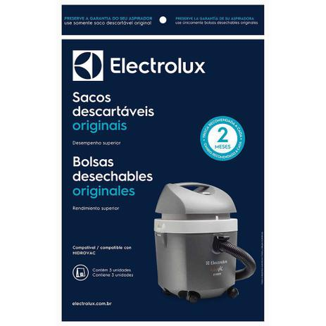 Imagem de Kit c/ 3 Sacos Originais p/ Aspiradores Electrolux: Hidrovac (CSEHV)