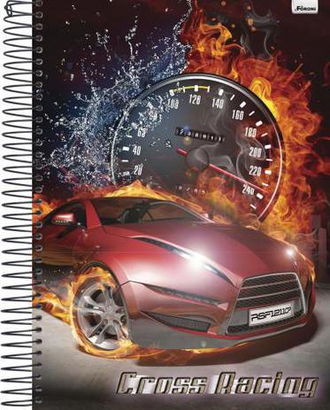 855707b1f3 Kit c  4 Cadernos Universitário Cross Racing - 115191 - Foroni ...