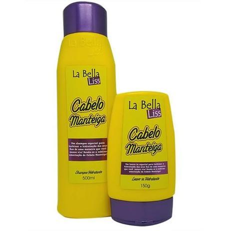 Imagem de Kit Cabelo Manteiga Shampoo + Leave-in La Bella Liss
