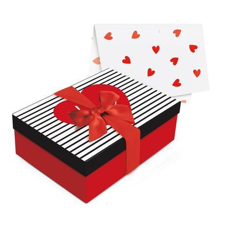 Imagem de Kit Caixa C/Papel Seda Laço Presente Love Vermelho P