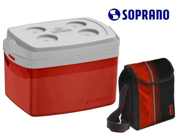 d944edfa8 Kit Caixa Térmica Tropical 12l + Bolsa Térmica 4,2l Vermelha - Soprano